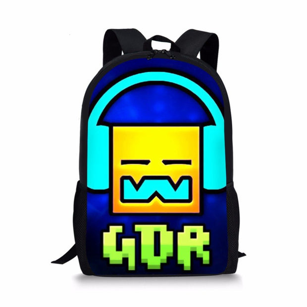 Backpacks School Geometry Dash Bags Kids Orthopedic