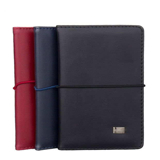 Business Travel Pu Leather Slim Passport Cover Women Men Credit Card Holder Case Driver License Ticket Wallet Document Organizer