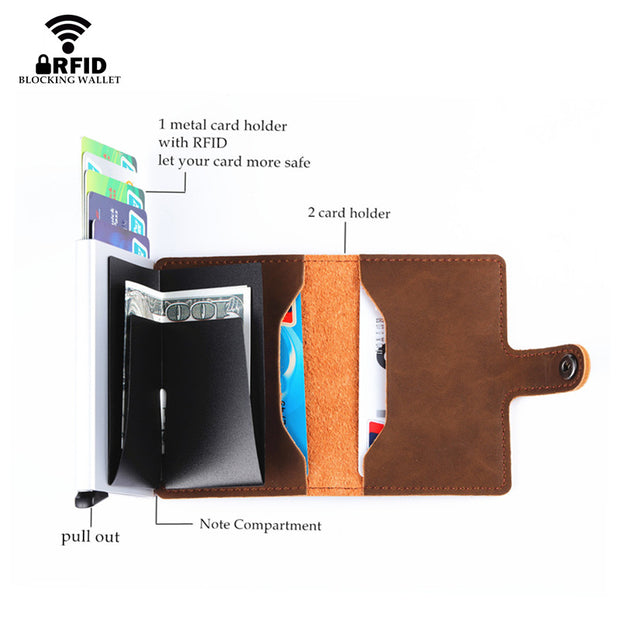 3a9d2a507f15 Bycobecy 2019 Unisex Metal Card Holder RFID Aluminium Credit Card ...