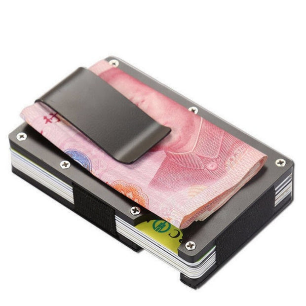 Carbon Fiber Clip Ultra-Thin Metal Clip Wallet Business Can Accommodate Multiple Debit And Credit Cards Carteira Full Size 20