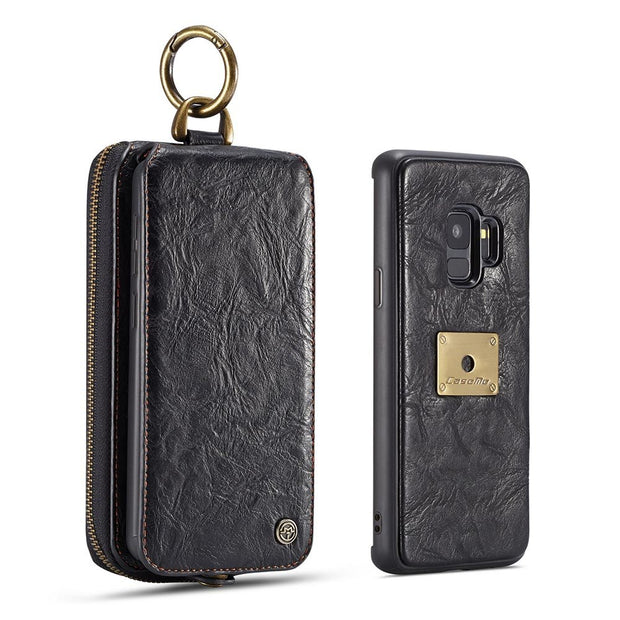 CaseMe Coarse Crack Detachable Wallet Case Cover For Samsung Galaxy S9/S9 Plus
