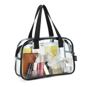 Clear PVC Makeup Toiletry Cosmetic Tote Bag Pouch Cosmetic Bag Size 30 Length X 20 Height X 10 Depth Cm