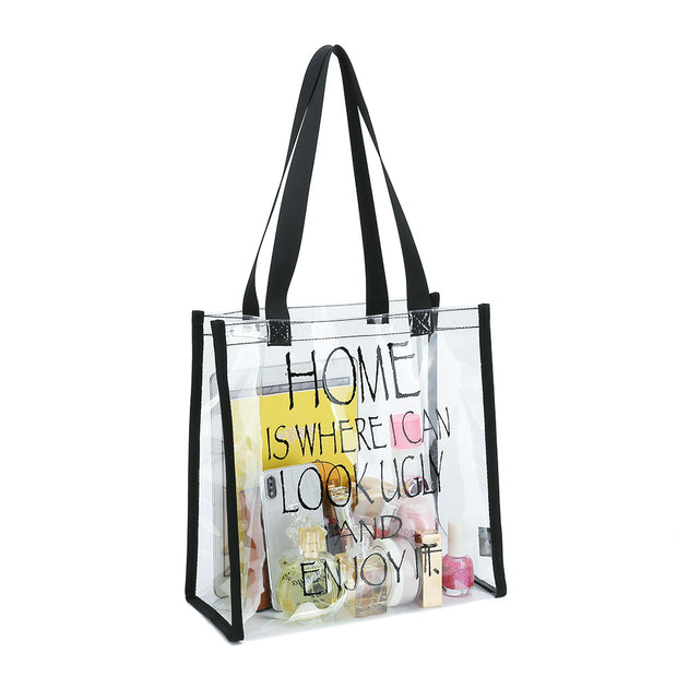 Clear Tote Bag- Home Is Where I Can Look Ugly And Enjoy It