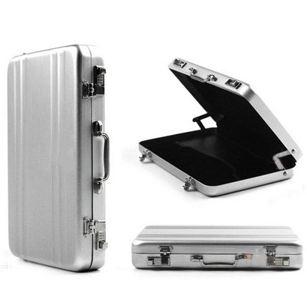 Creative Business ID Credit Card Holder Suitcase Wallet Pocket Case Aluminum Metal Box 5Colors