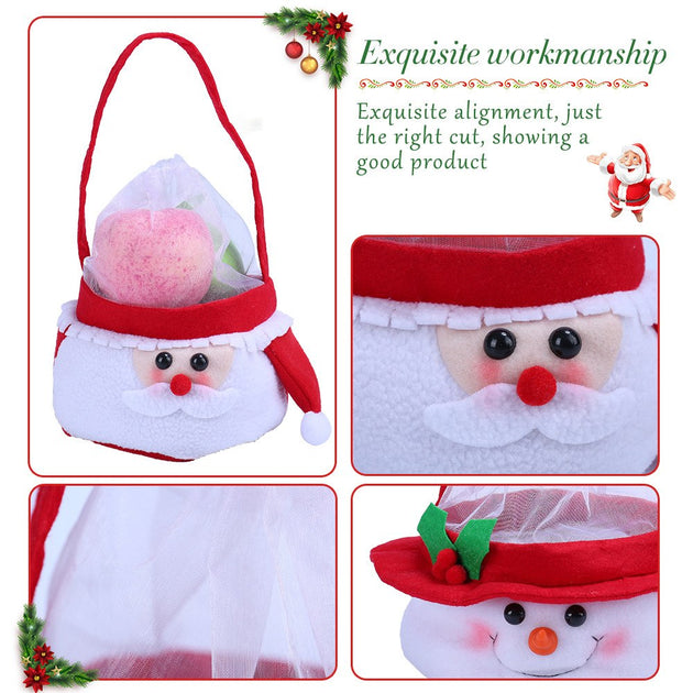 6c005d86a10a Creative Christmas Cute Santa Claus Patchwork Candy Bags Handbag Home –  Skylar s  The Bag Shop