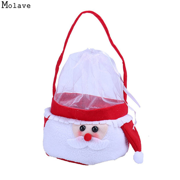 fab5339db94c Creative Christmas Cute Santa Claus Patchwork Candy Bags Handbag Home Party  Decoration Gift Bag Christmas Supplies