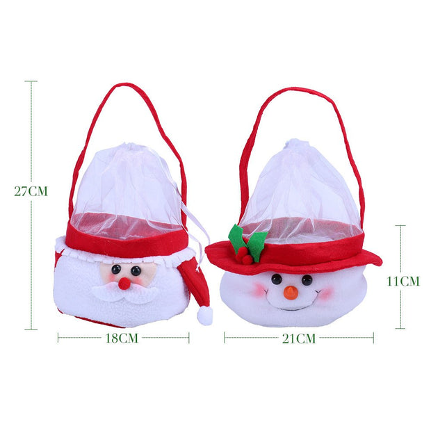Creative Christmas Cute Santa Claus Patchwork Candy Bags Handbag Home Party  Decoration Gift Bag Christmas Supplies f7db0975e46b4