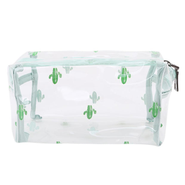 Creative Cosmetic Bag Women Transparent Zipper Storage Case Large Capacity Make-up Bags Waterproof Travel Toiletry Make Up Bag