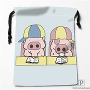 Custom Printing Lovely Pig (1) Drawstring Shopping Bags Travel Storage Pouch Swim Hiking Toy Bag Unisex Multi Size19-01-04-90
