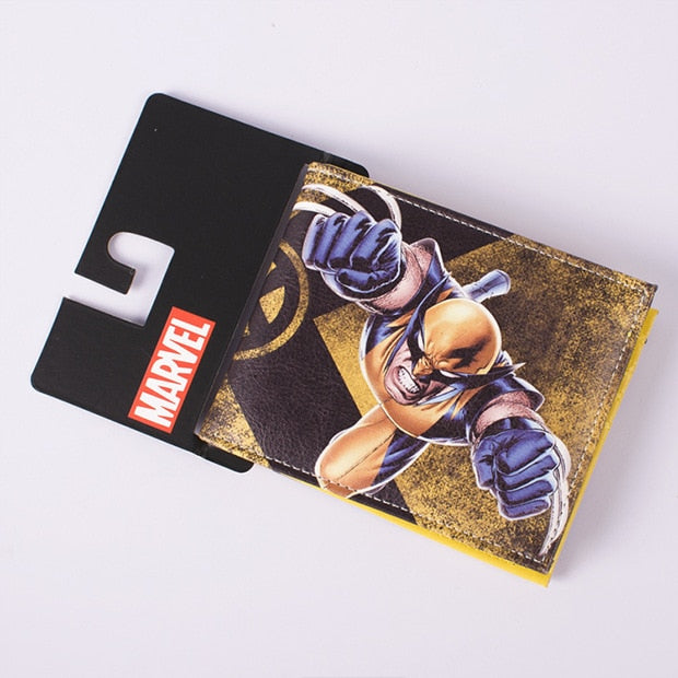 DC Marvel Comics Wol Amination Wallets Casual Leather Animal Prints Man  Gift Purse Creative Dollar Price Money Bags