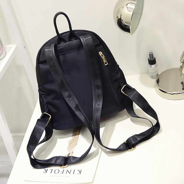 DORANMI Golden Color Zipper Backpacks 2018 Fashion Oxford Schoolbag Women's School Back Bag Shoulder Backpacks Mochila CBB038