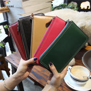 DORANMI High Quality Genuine Leather Long Purse Bag 2018 Women's Wallet Thin Cow Leather Money Bag Card Holding Wallets PJ032