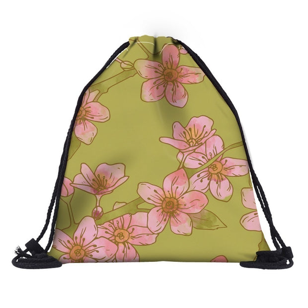 Deanfun 3D Printing Floral Mochila Feminina Durable Waterproof Travel Flowers Gym Drawstring Backpack Bag Dropshipping 60162