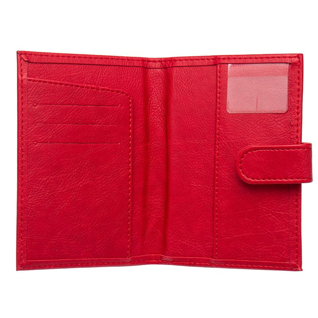 Drop Shopping Travel Passport Wallets Organizer Red Credit Card Holder Case Female Passport Covers Business Card Case Porte Rfid