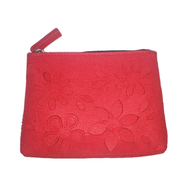 Fashion Felt Bag Women Retro Multifunction Travel Cosmetic Bag Makeup Toiletry Felt Pouch Case