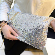Fashion Ladies Glitter Sequins Handbag Messenger Bag Sparkling Party Evening Envelope Clutch Bag Wallet Tote Purse Shoulder Bag