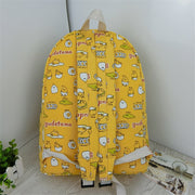 Fashion Lazy Egg Printed Backpacks Male/female Cartoon Yellow Gudetama Backpack Sac A Dos Femme School Bags Pack Rucksack