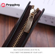 Fashion Men Business Zipper Clutch PU Leather Coin Purse Long Card Wallet Woman Wallet Clutch Card Holder Coin Purses For Girls