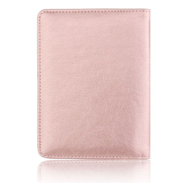 b63dc2f6325f Fashion Men Women Leather Passport Case Holder RFID Blocking Travel ...