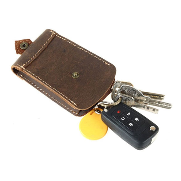 Fashion New Women Men Genuine Leather Mini Car Key Bag Card Case Holder Wallet Case Small Key Organizer Bag