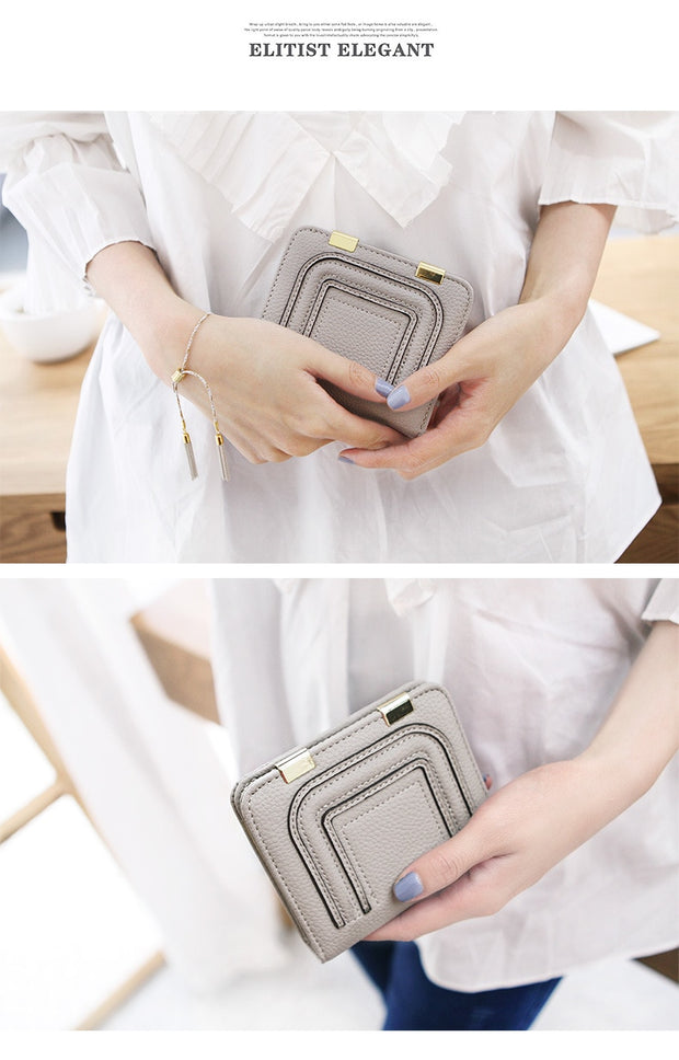 Fashion Ultra Thin Women Wallet Mini Litchi Leather Coin Purse Small Wallet Female Ladies Card Purse Holder