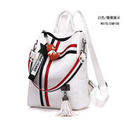 Fashion Women's Backpack High Quality School Bag Female Leather Retro Shoulder Bag Youth Tassel Mochila Feminina Escolar