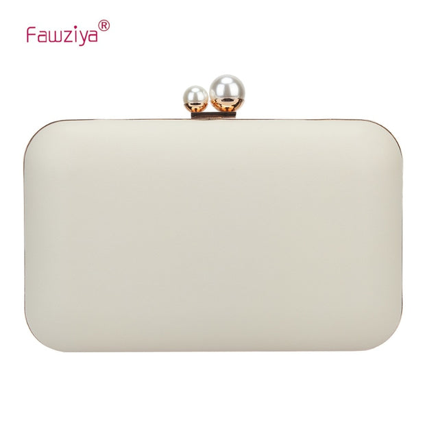 arriving utterly stylish sophisticated technologies Fawziya Clutch Evening Bags Double Pearl Metal Frame Party Purses For Women