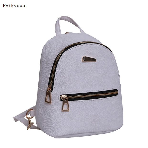 6418bc5672 Foikvoon Candy Bags Alligator Mini Backpack Bags For Women Leather Backpack  Women Mochilas School Bag Backpack