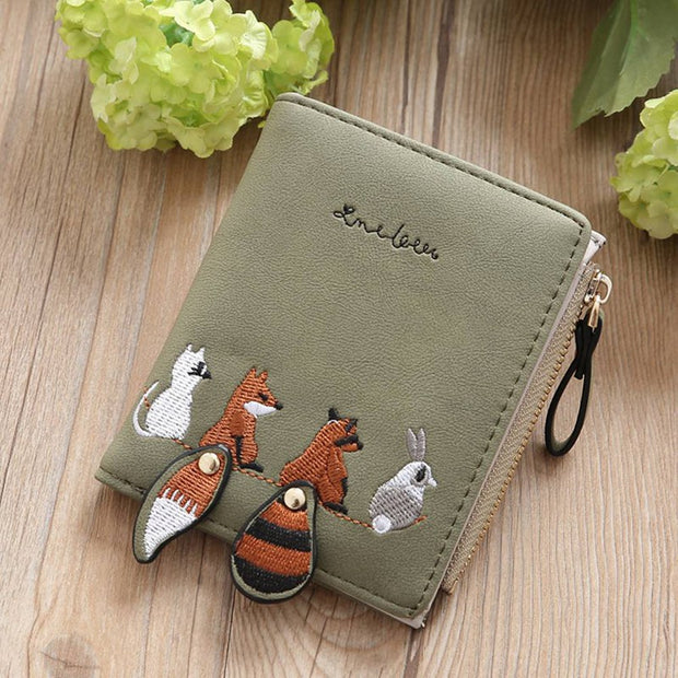 Fox Wallets Cartoon Animal Candy Colored Girls Coin Bags Women Key Wallets Children Cute Cartoon Mini Coin Purse