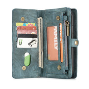 Genuine Leather Wallet Case For IPhone Xs Max/XR,super Organizer Wallet Money Purse Card Holder With Magnetic Detachable Case