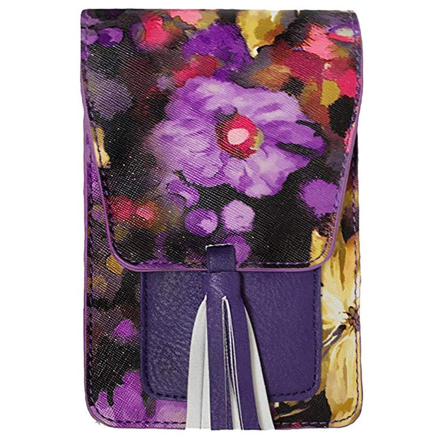 960860d2ceb HTNBO Fashion PU Leather Woman Cell Phone Bag Wallet Luxury Floral ...