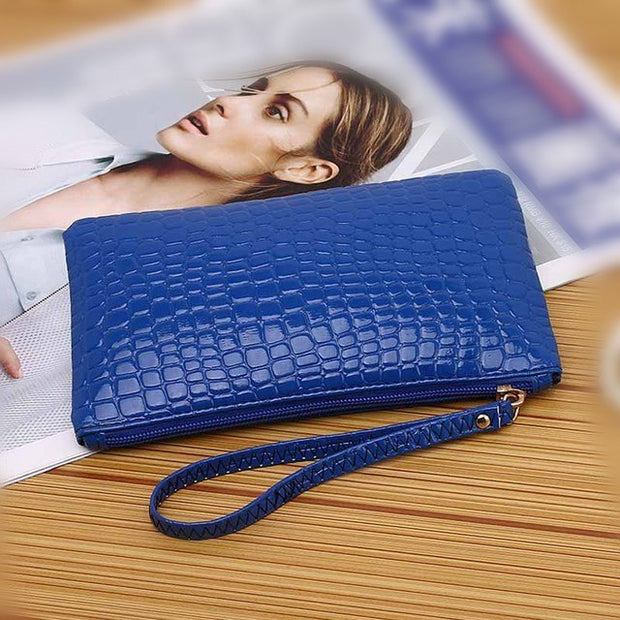 Handbag Coin Purse Crocodile Pattern Clutch Bag Young Lady Phone Cards Hand Pack