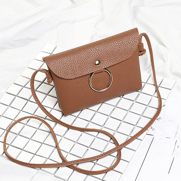 Handbag Women New Fashion Artificial Leather Hasp Purse Handbag Crossbody Shoulder Messenger Phone Coin Bag Bolsa Feminina