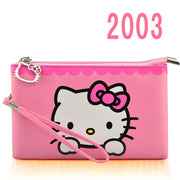 Hello Kitty Girls Wallets Cute Solid PU Leather Doraemon Long Bag Clutch Women Wallet Cash Phone Card Kitty Coin Purse