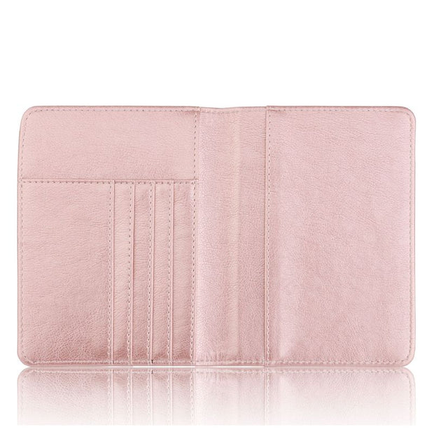 High Quality PU Leather Passport Case Holder RFID Blocking Travel ID Credit Card Wallet Cover Protector