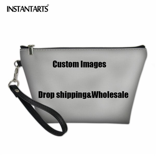 a439c23ab031 INSTANTARTS Fashion Women Cosmetic Bags Daily Use Makeup Bags For Girl  Female Custom Images Or Logos Drop Shpping And Wholesale