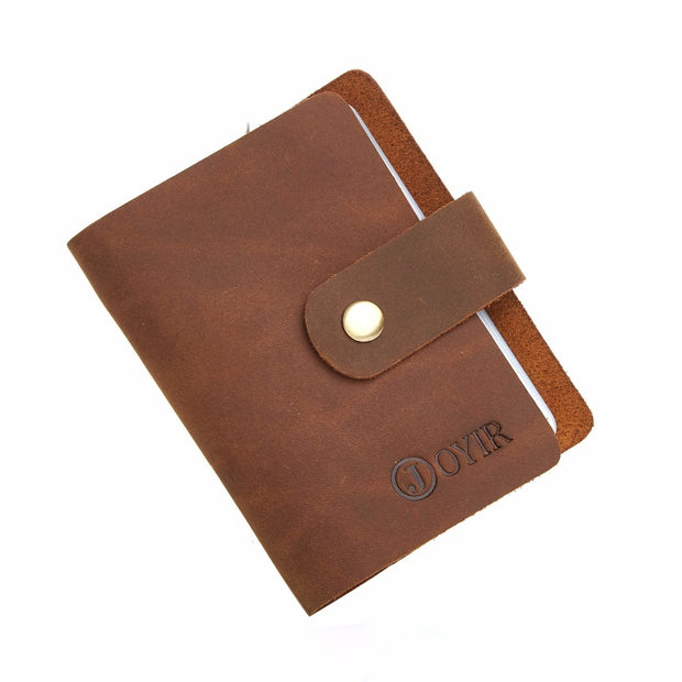 a9a565d7f315 JOYIR New 16 Card Slots Men Credit Card Holder Vintage Genuine ...