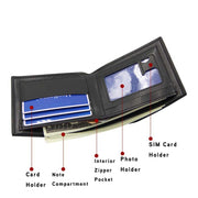Letter Printing Men Wallets Black PU Leather Purse For Men Card Holder Mini Men's Wallet