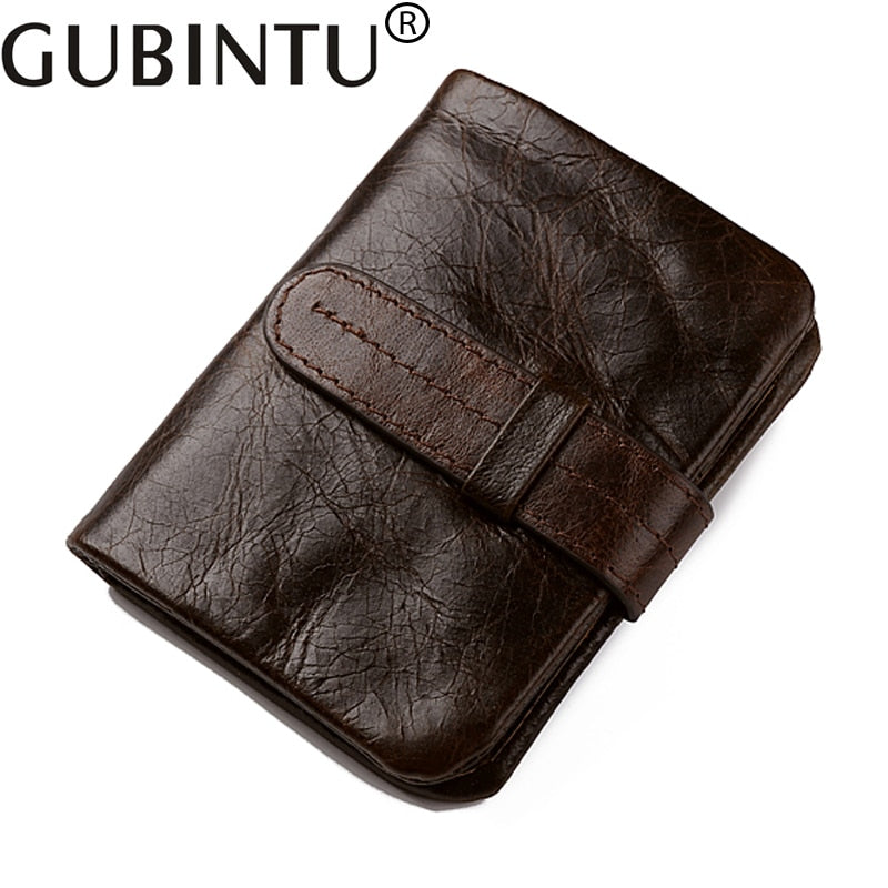 MENS LADIES QUALITY GENUINE BROWN LEATHER COIN CHANGE POUCH PURSE CHANGE WALLET