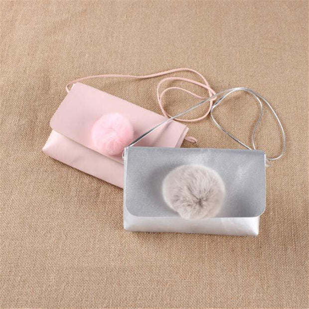 Lovely Baby Coin Purse Good Quality Money Bags PU Hairball Solid Fashion Simple Gifts For Babies Birthday Gift For Little Girls