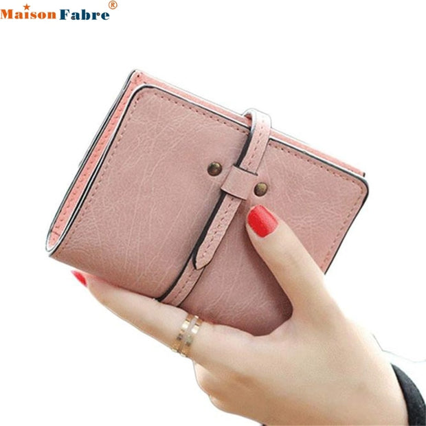 Maison Fabre Jasmine Women Ultrathin Mini Bifold Leather Wallet Card Holder Wallet Purse
