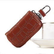 Men Key Wallets Holder Organizer Housekeeper Leather Zipper Coin Car Key Ring Bag Case Pouch Male Car Remote Control Key Holder