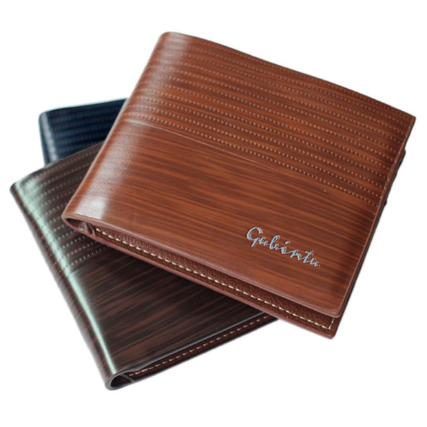 Men Wallet Purse Business Card Holder Purse Male Leather Men Wallet Purse Card Cash Receipt Holder Organizer Bifold Wallet Purse