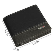 Men Wallet Purse Business Card Holder Purse Male Leather Mens Leather Bifold Money Card Holder Wallet Coin Purse Clutch Pockets