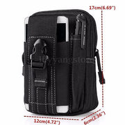 Men Women Waist Phone Bag Case For IPhone For Samsung Waist Pack Hip Pouch Belt Zipper Bags