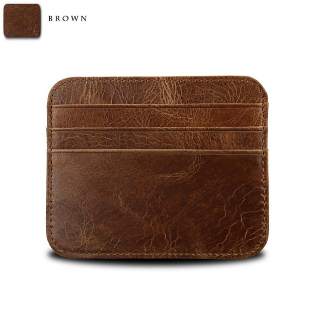 Men's Portable Leather Thin Wallet ID Money Credit Card Slim Holder Money Pocket