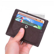 Men's Slim Genuine Leather Pocket Wallet ID Credit Card Holder Protector Purse