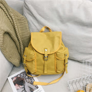 Menghuo Women Korean Canvas Backpack Bag For Girl New Vintage Shoulder Bag Female Backpack Canvas Bag Casual Travel Multi-pocket