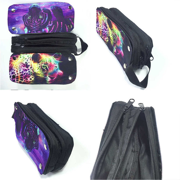 Mermaid Pencil Bag Rock Pouch Case Women Men Teenagers Boys Girls Kid School Lunch Box Princess Ariel Animal Cat Dragon Space