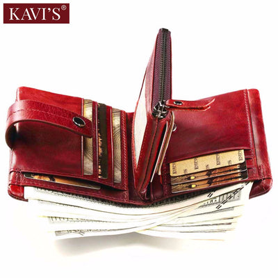NEW 2018 Women Coin Purse Small Wallet Female Walet Portomonee Clamp For Money Bag Lady Zipper And Vallet Genuine Leather